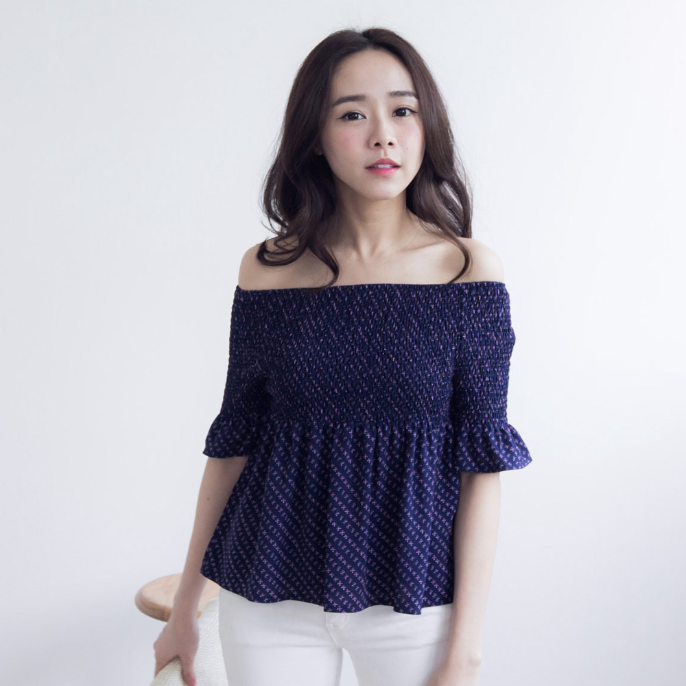 Tokyo Fashion Womens Off Shoulder Top With Flared Sleeve