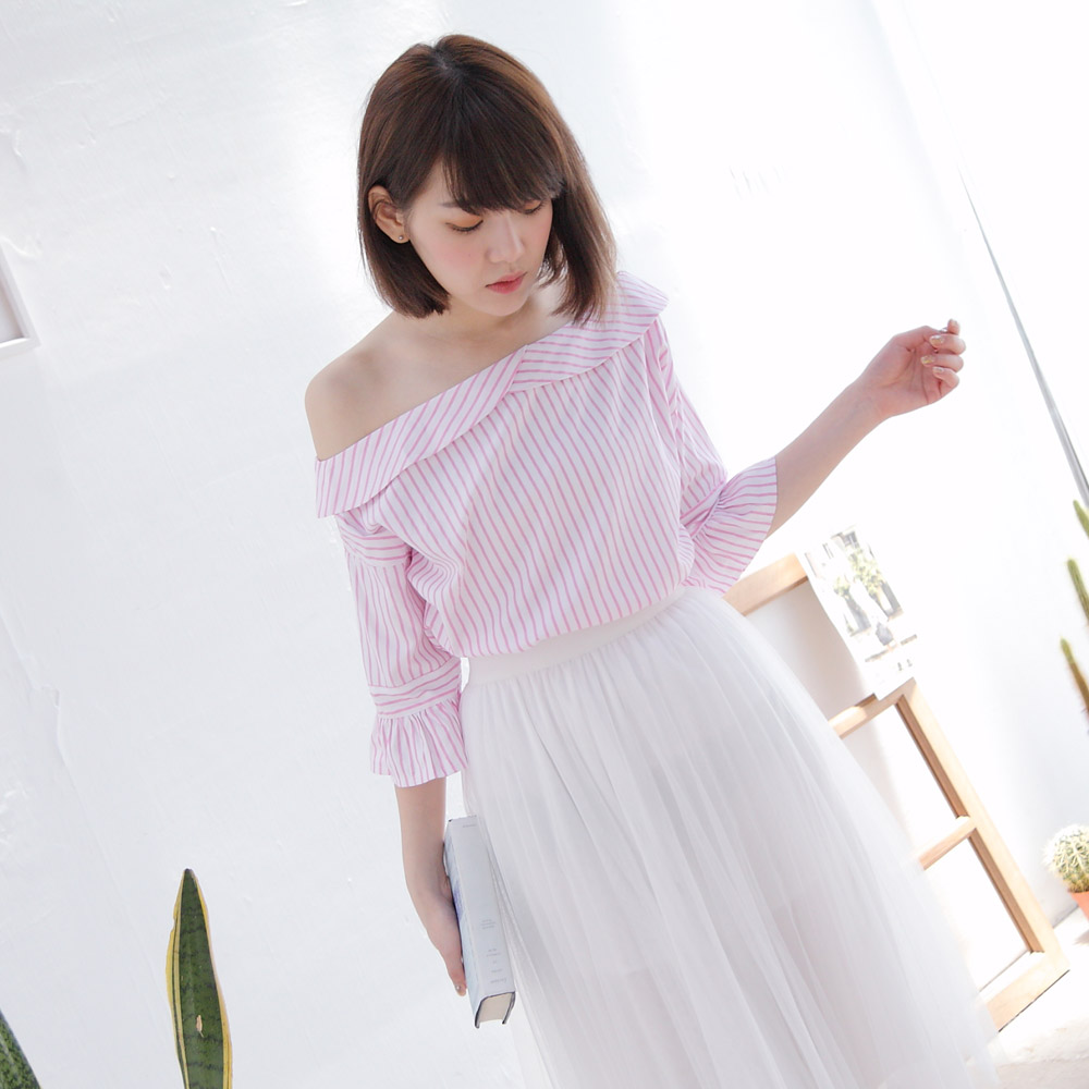 Tokyo Fashion Womens Stripes Off Shoulder Top Japanese