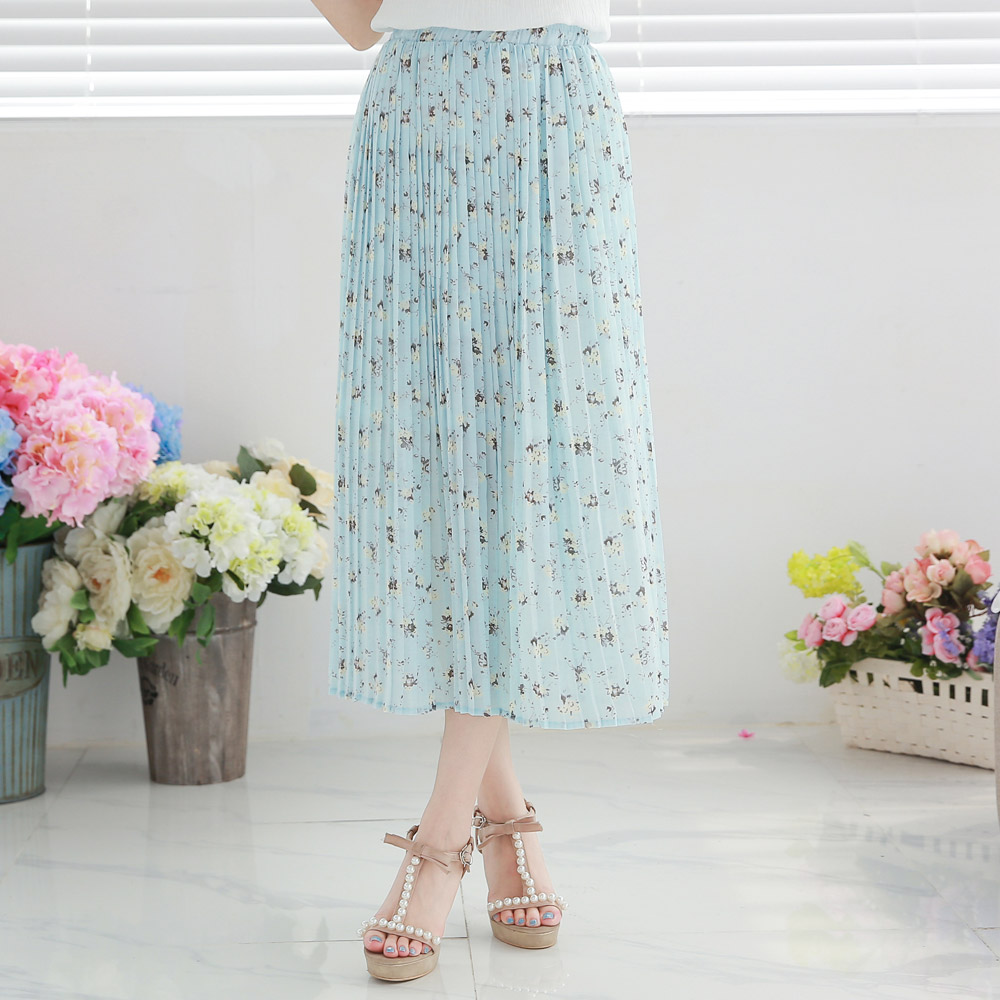 yoco womens floral print maxi skirt japanesekorean