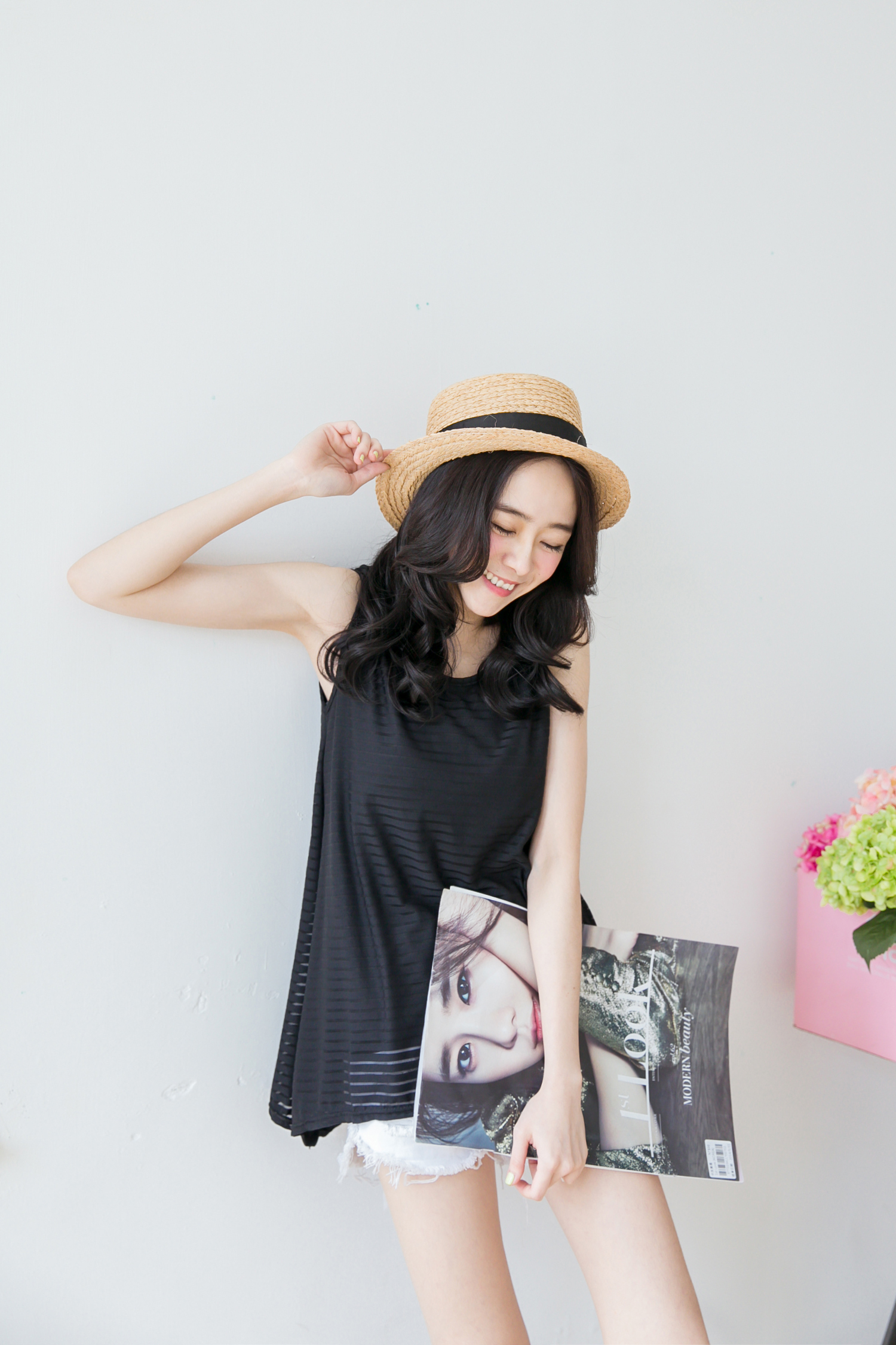 TOKYO FASHION Womens Striped Sheer Sleeveless Long Top ...